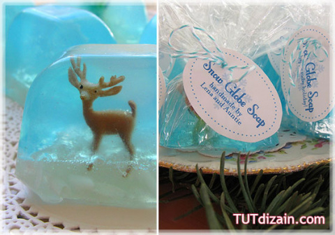 Новогоднее мыло с игрушкой внутри!