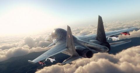 Андрей Емелин.  Россия.  072570-su-34-istrebitel-oblaka-rendering.