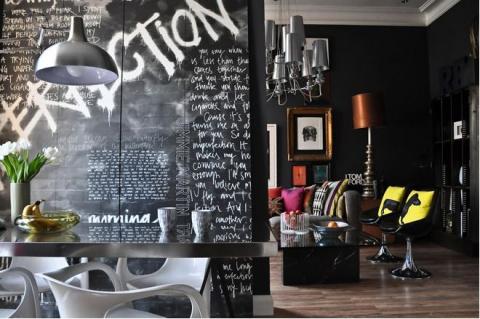 К доске: 25 идей использования грифельной краски в интерьере