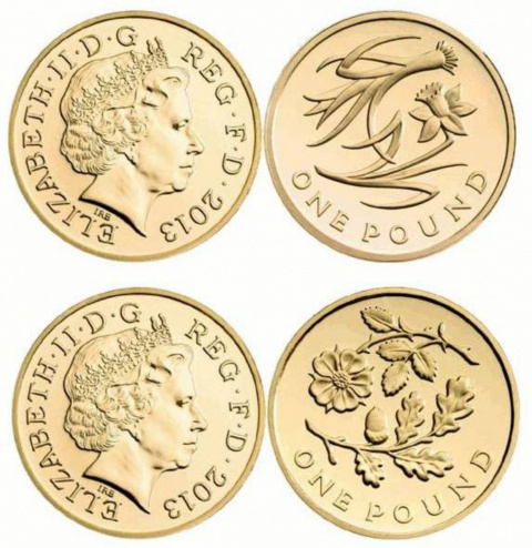 Новый дизайн монет Великобритании