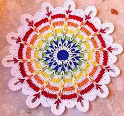 разноцветный коврик