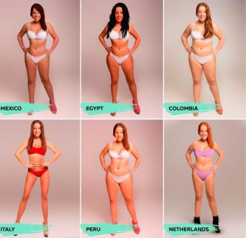 Каноны женской красоты: как выглядит «идеальная» фигура в 18 разных странах?