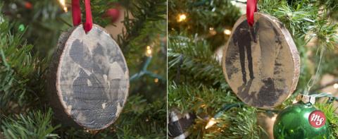 Деревянные украшения на елку в ретро стиле. МК