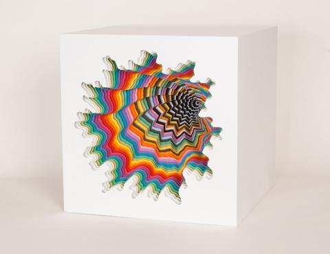 Вихри бумажной радуги