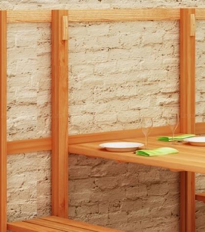 Куда спрятать огромный обеденный стол