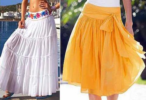 длинные летние юбки