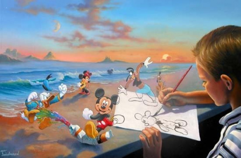 Dream Maker  A Mickey Painting