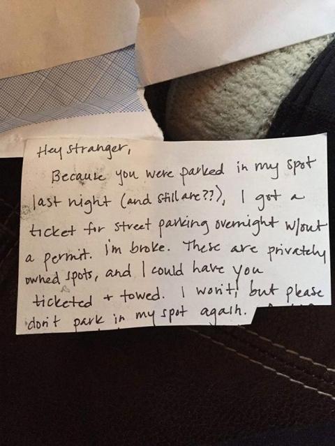 Женщина оставила записку вла…
