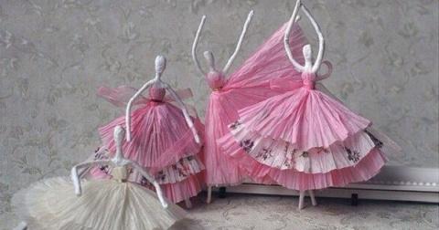 Изящные балерины для украшен…
