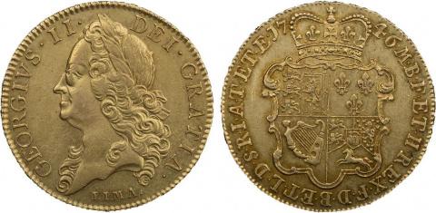 Монеты Георга II 1745-1746 годов с надписью Лима