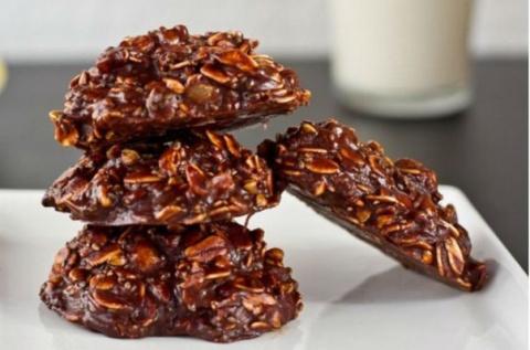 Овсяное шоколадное печенье б…