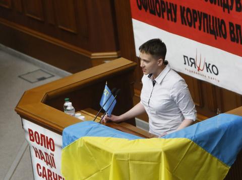 Савченко выступила в Раде