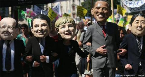 Меркель попыталась объяснить, почему Владимира Путина не пригласили на саммит G7