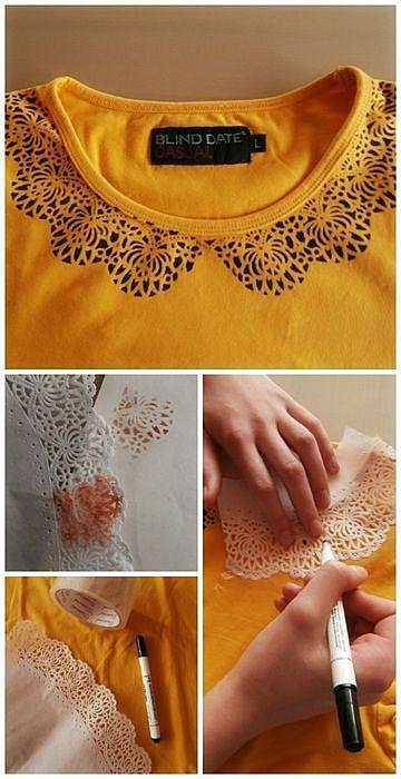 Декорируем футболку. Идея