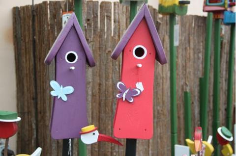 Креативные домики для продвинутых птиц!