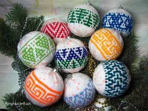 схемы шариков для вязания спицами