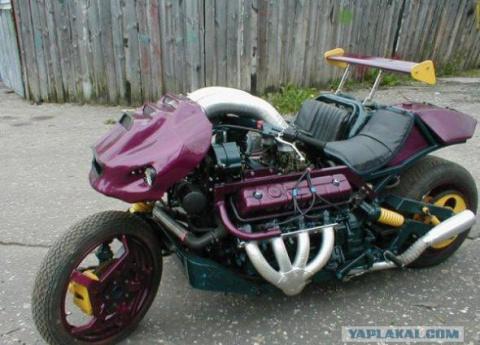 Мотоцикл с двигателем ГАЗ-53, с двигателем от грузовика