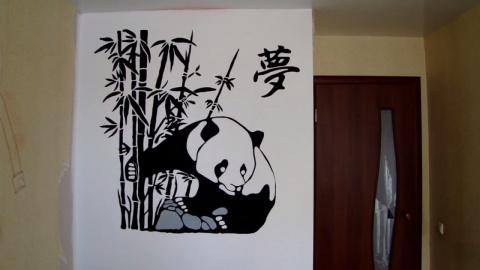 Рельефное панно Панда.МК
