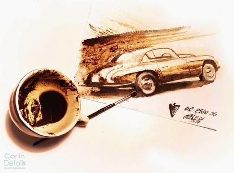 Рисунки машин - кофе и кисть. Adrian Mitu