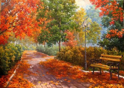 Пейзажи художницы Марины Гордеевой