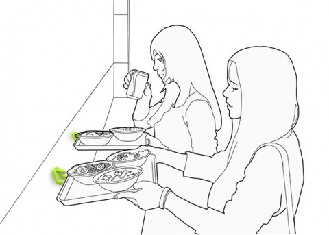 Еда с подносов - еще быстрее