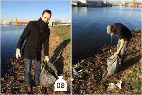 И один в поле воин: мужчина самостоятельно очистил от мусора набережную