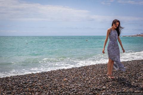 Пустые пляжи Сочи