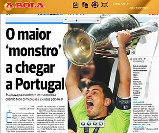 «В «Порту» едет монстр». Как в Португалии встречают Касильяса