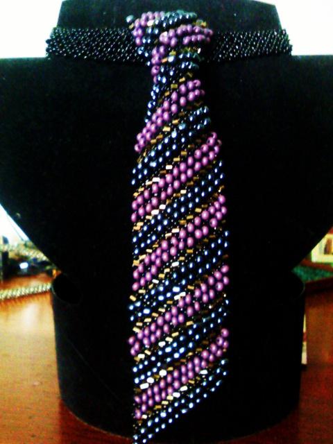 бисерные галстуки