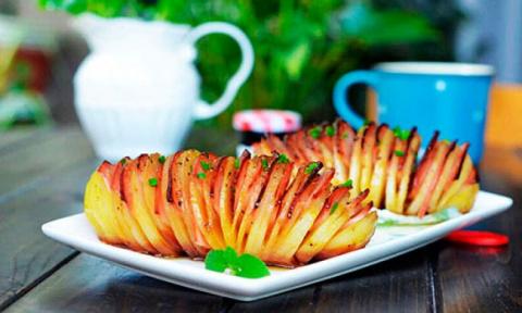Необыкновенно легкий рецепт румяной картошки-гармошки