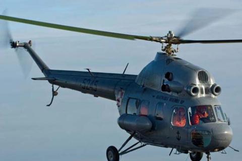 В Ленинградской области обнаружили странный вертолет
