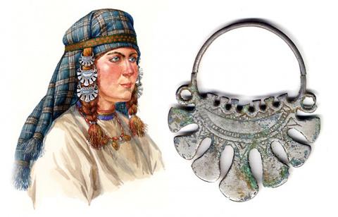 Височные украшения древних с…