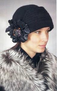 Вязаная шляпа «Черный лебедь».