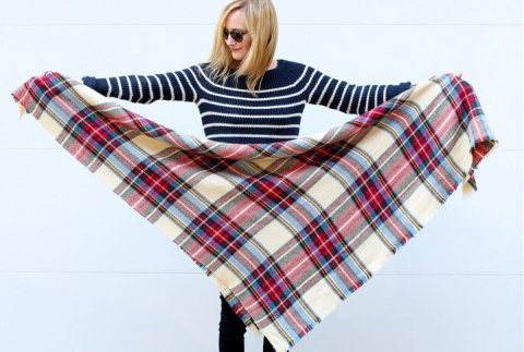 Модные идеи с шарфом-oversize
