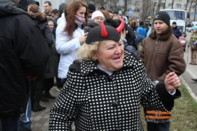 Киевляне оганизовали мычащий…