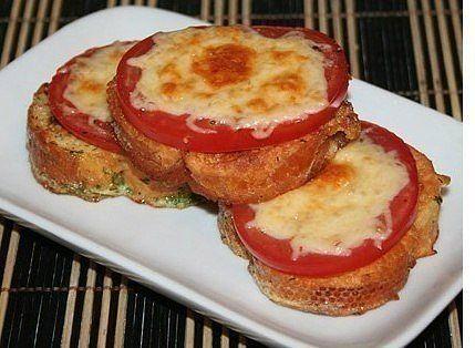 Гренки с помидорами и сыром …