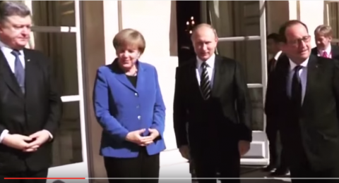 Свидетель парижского рукопожатия Порошенко и Путина раскрыл его секрет