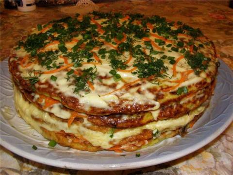 Торт кабачковый