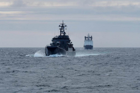 Корабль Северного флота отпр…