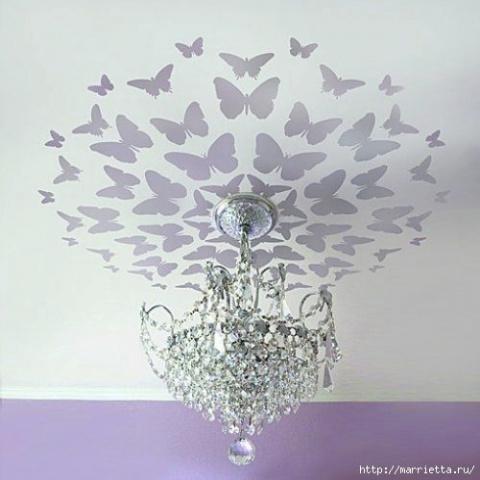 Порхающие бабочки в интерьере