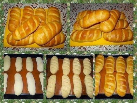 Вкусные домашние батоны