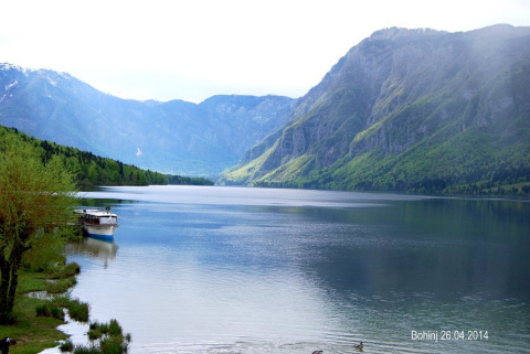 Отдых на природе, озеро Бохинь (Словения)