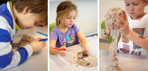 Мои дети строят песочные зам…