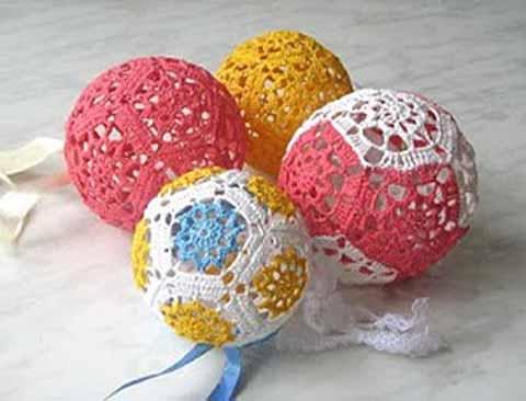 елочные шары из мотивов
