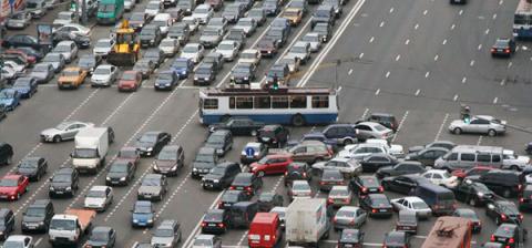 Московские пробки нанесли на…