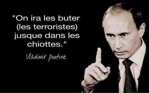 Французы начали массово выкладывать в соцсети картинки с цитатой Путина про «мочить в сортире»