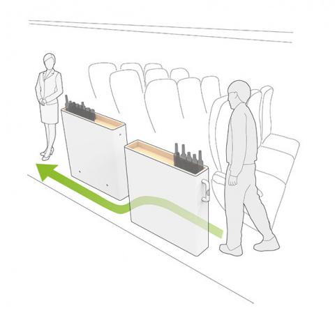 Стюардесса с тележкой больше не помеха для пассажиров