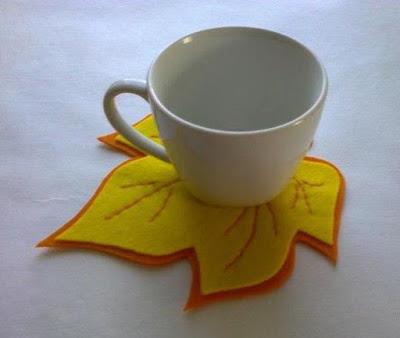 Фетровая подставка под чашку…