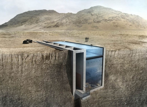 Спрятанный в скале дом с уди…