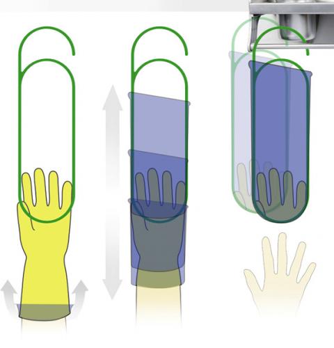 Качественно сушим резиновые перчатки